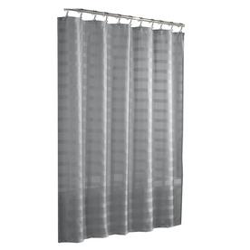 shop allen roth polyester platinum solid shower liner at. Black Bedroom Furniture Sets. Home Design Ideas