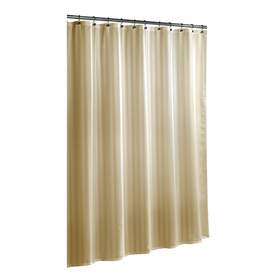 Shop allen roth Polyester Taupe Striped Shower Curtain