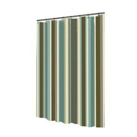 shop allen roth polyester multicolor striped shower curtain at. Black Bedroom Furniture Sets. Home Design Ideas