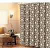 allen + roth Polyester Brown Patterned Shower Curtain