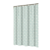 allen + roth Polyester Aqua Patterned Shower Curtain