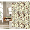 allen + roth Polyester Multicolor Patterned Shower Curtain