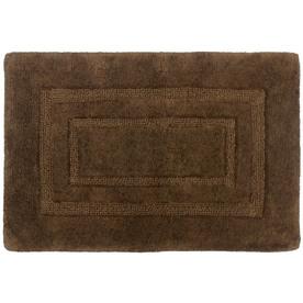 allen + roth 17-in x 24-in Chocolate Cotton Bath Mat