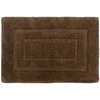 allen + roth 17-in x 24-in Chocolate Cotton Bath Mat