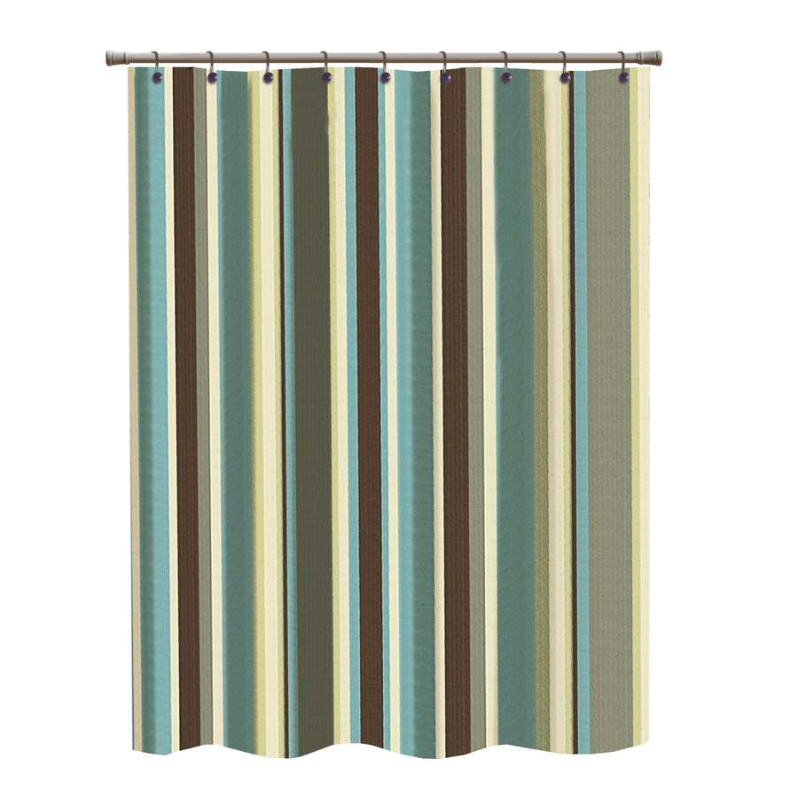 shop polyester multicolor striped shower curtain at