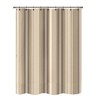 Polyester Brown Striped Shower Curtain