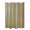 allen + roth Townsend Polyester Taupe Striped Shower Curtain