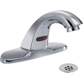 delta commercial chrome touchless 4 in centerset bathroom sink faucet