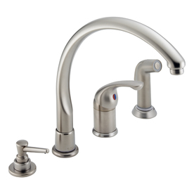 shop delta waterfall stainless 1 handle high arc kitchen