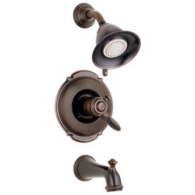 Delta Victorian Oil-Rubbed Bronze 1-Handle Tub and Shower Faucet with Multi-Function Showerhead