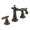 Delta Victorian Venetian Bronze 2-Handle Widespread WaterSense Bathroom Faucet (Drain Included)