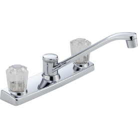 Peerless Chrome Double-Handle Kitchen Faucet