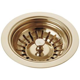 Delta 4-1/2-in dia Polished Brass Strainer Basket Only Sink Strainer 72010-PB