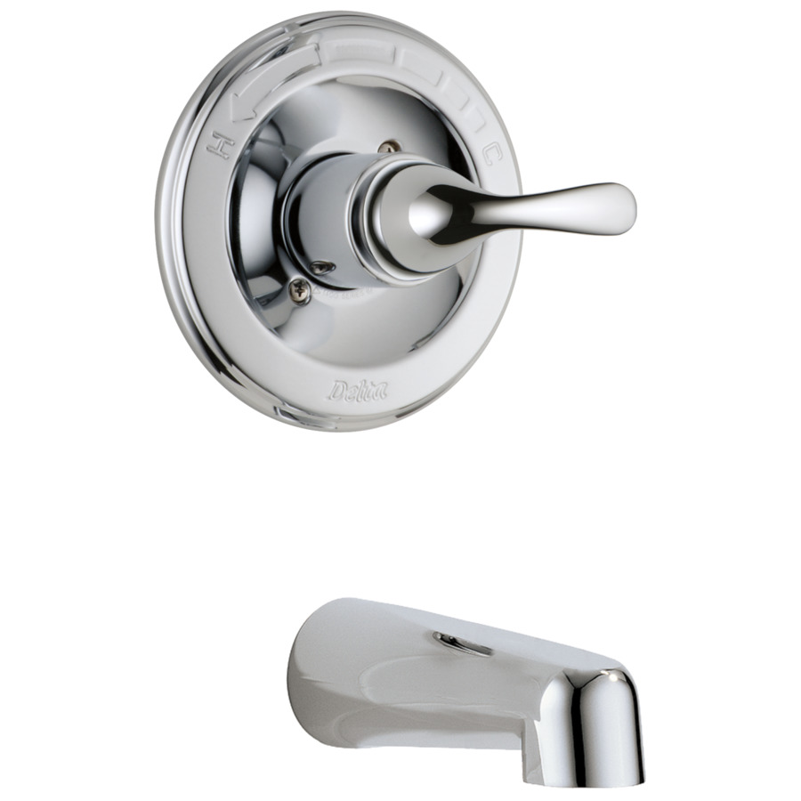 ... Delta Classic Chrome 1-Handle Fixed Wall Mount Tub Faucet at Lowes.com