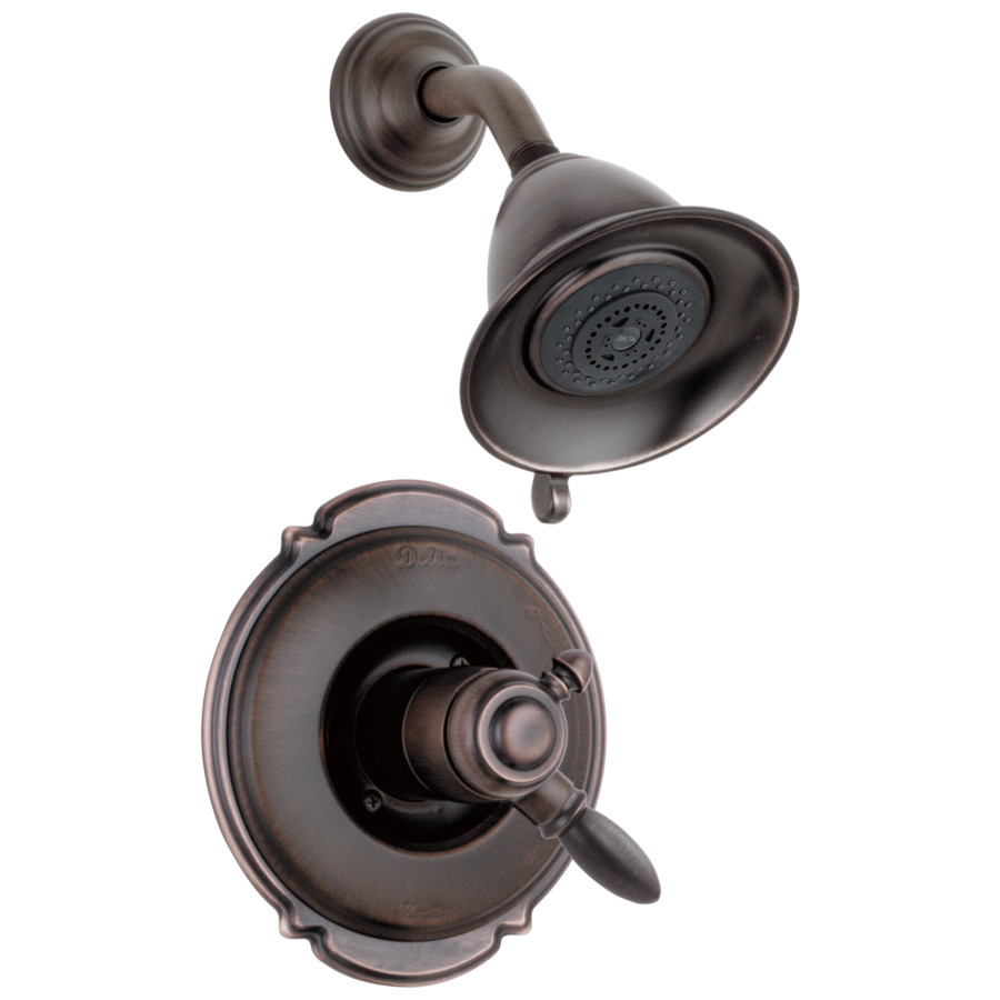 Shop Delta Victorian Venetian Bronze 1-Handle Shower Faucet Trim Kit With Multi-Function