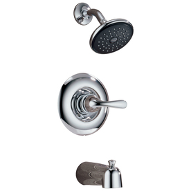 Delta Chrome 1-Handle Tub and Shower Faucet with Single-Function Showerhead