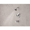 Delta Chrome 1-Handle WaterSense Bathtub and Shower Faucet with Single Function Showerhead
