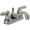 Peerless Brushed Nickel 2-Handle 4-in Centerset Bathroom Faucet (Drain Included)