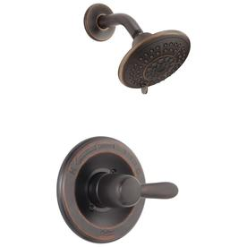Delta Lahara Venetian Bronze 1-Handle WaterSense Shower Faucet Trim Kit with Single Function Showerhead