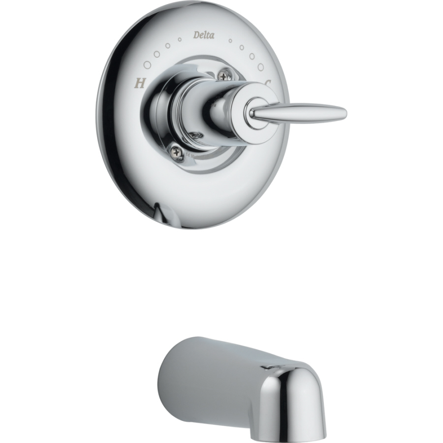 Shop Delta Grail Chrome 1 Handle Fixed Wall Mount Tub Faucet At