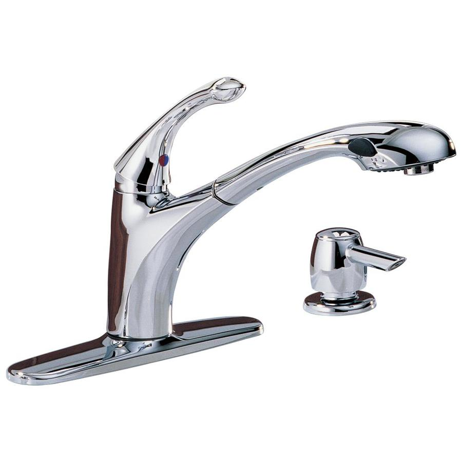 Pull Out Kitchen Faucet : Shop Delta Debonair Chrome Pull-Out Kitchen Faucet at Lowes.com