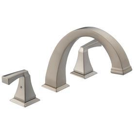 Delta Dryden Stainless 2-Handle Adjustable Deck Mount Bathtub Faucet