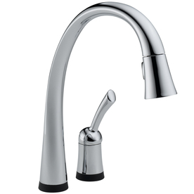 shop delta pilar touch2o chrome 1 handle pull down touch
