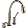 Delta Pilar Touch2O Stainless 1-Handle Pull-Down Sink/Counter Mount Kitchen Faucet
