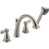 Delta Leland Stainless 2-Handle Adjustable Deck Mount Tub Faucet