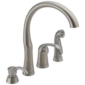Delta Stainless 1-Handle High-Arc Kitchen Faucet with Side Spray