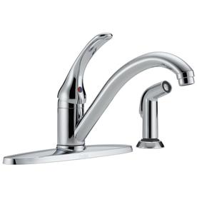 Delta Classic Chrome Low-arc Kitchen Faucet with Side Spray $39
