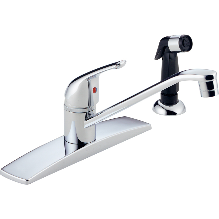 Shop Peerless Chrome Low Arc Kitchen Faucet With Side Spray At