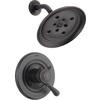 Delta Leland Venetian Bronze 1-Handle WaterSense Shower Faucet Trim Kit with Rain Showerhead