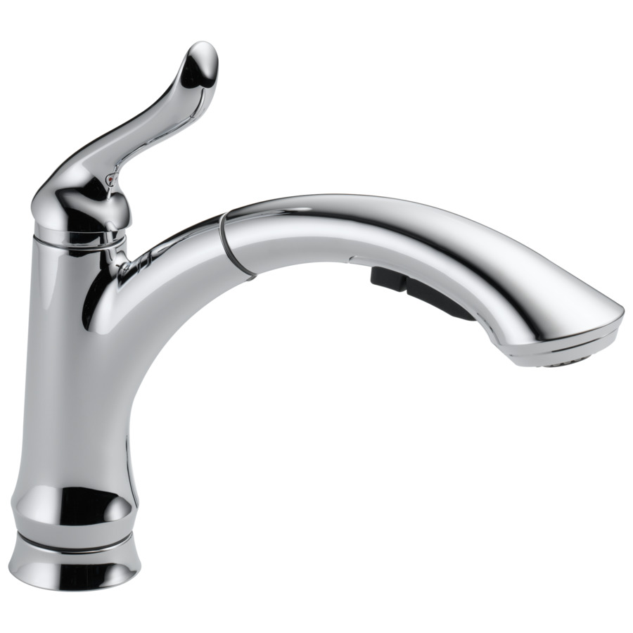 shop delta linden chrome pull out kitchen faucet at lowes com