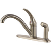 Delta Classic Stainless 1-Handle Low-Arc Kitchen Faucet with Side Spray