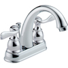 Delta Windemere Chrome 2-Handle 4-in Centerset WaterSense Bathroom Sink Faucet (Drain Included)