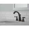 Delta Windemere with Plastic Drain Oil-Rubbed Bronze 2-Handle Widespread WaterSense Bathroom Faucet (Drain Included)