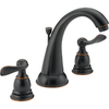 Delta Windemere Oil-Rubbed Bronze 2-Handle Widespread WaterSense Bathroom Sink Faucet (Drain Included)