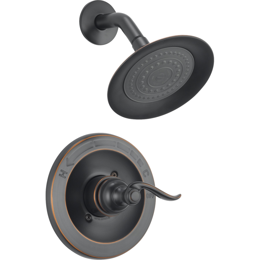 Shop Delta Windemere Oil Rubbed Bronze 1 Handle Watersense Shower Faucet With Single