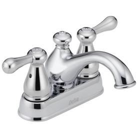 Delta Leland Chrome 2-Handle 4-in Centerset WaterSense Bathroom Sink Faucet (Drain Included)