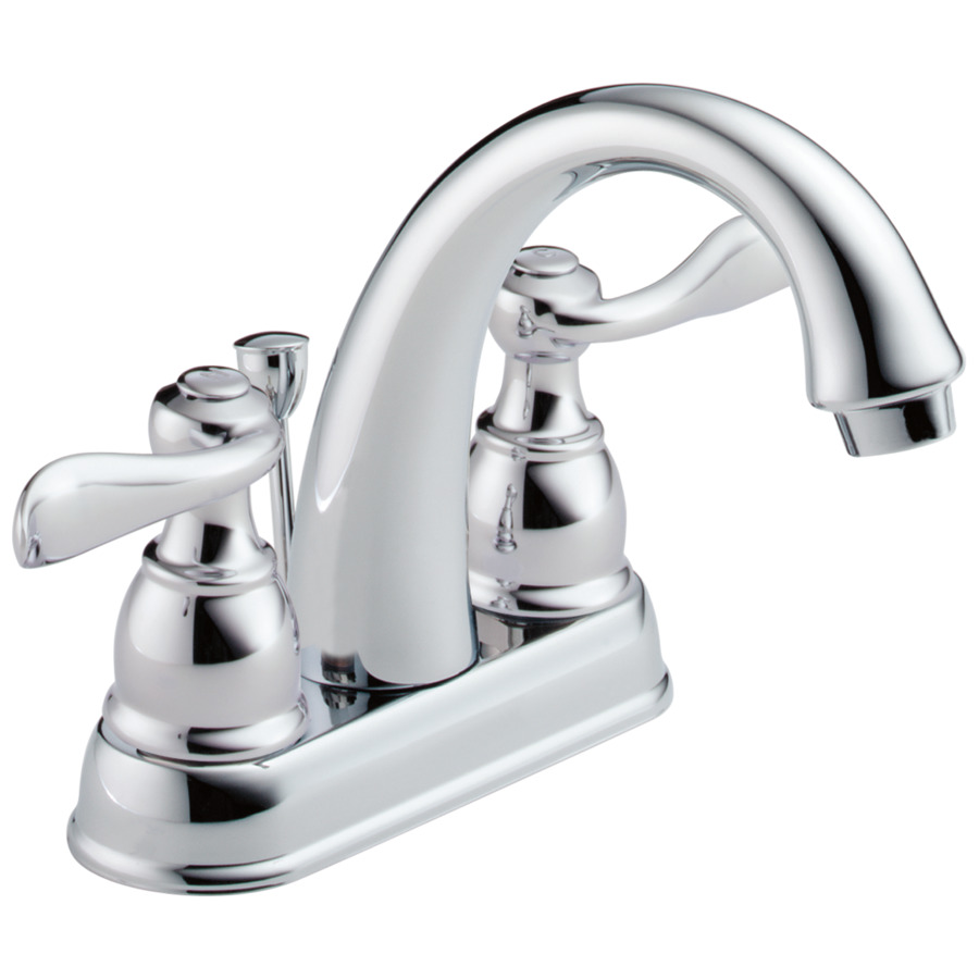 Shop Delta Windemere Chrome 2 Handle 4 In Centerset Watersense Bathroom Sink Faucet Drain