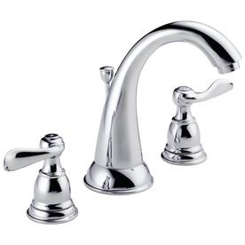 Delta Windemere with Metal Drain Chrome 2-Handle Widespread WaterSense Bathroom Faucet (Drain Included)
