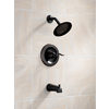 Delta Windemere Oil-Rubbed Bronze 1-Handle WaterSense Bathtub and Shower Faucet Trim Kit with Single Function Showerhead