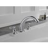 Delta Windemere Chrome 2-Handle Adjustable Deck Mount Bathtub Faucet