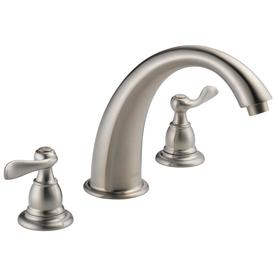 Delta Windemere Stainless 2-Handle Adjustable Deck Mount Bathtub Faucet