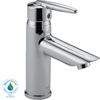 Delta Grail Chrome 1-Handle Single hole/4-in Centerset WaterSense Bathroom Sink Faucet