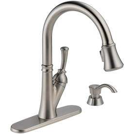 Delta Savile Stainless 1-Handle Pull-Down Sink/Counter Mount Kitchen Faucet