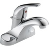Delta 1-Handle 4-in Centerset WaterSense Bathroom Faucet (Drain Included)