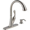 Delta Ashton Stainless 1-Handle Pull-Down Sink/Counter Mount Kitchen Faucet