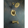 Delta Addison Champagne Bronze 1-Handle WaterSense Bathtub and Shower Faucet Trim Kit with Single Function Showerhead